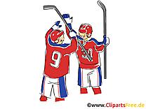 Gagnants illustration gratuite - Hockey clipart
