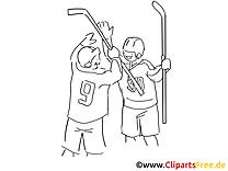 Gagnants images à colorier - Hockey dessins gratuits