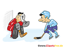 Gardien de but clip art gratuit – Hockey images