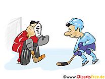 Gardien de but clip art gratuit – Hockey images