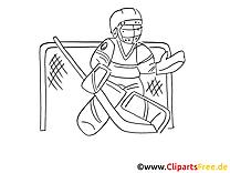 Gardien de but hockey illustration à imprimer