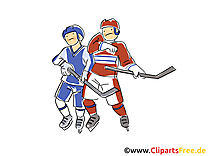 Hockeyeurs clipart - Hockey dessins gratuits