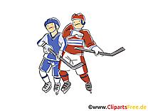 Hockeyeurs clipart - Hockey dessins gratuits