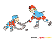 Hockeyeurs cliparts gratuis - Hockey images