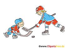 Hockeyeurs cliparts gratuis - Hockey images