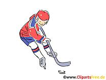 Image gratuite cross – Hockey clipart