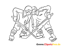 Jeu image à colorier - Hockey images cliparts