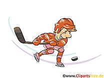 Palet illustration gratuite - Hockey clipart