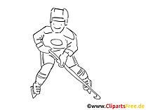 Sport d'hiver clip art à imprimer – Hockey images