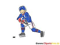 Sport d'hiver clip arts gratuits - Hockey illustrations