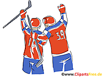 Victoire image gratuite - Hockey illustration