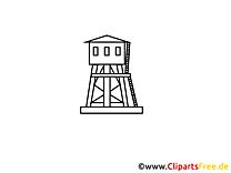 Belvédère image gratuite à colorier - Industrie cliparts