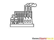 Clip art gratuit à colorier - Industrie dessin