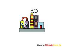 Clipart gratuit fabrique - Industrie images