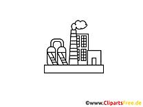 Coloriage clip arts gratuits - Industrie illustrations