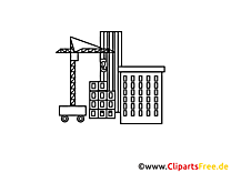 Coloriage construction image - Industrie cliparts