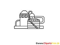Coloriage usine chimique – Industrie clipart