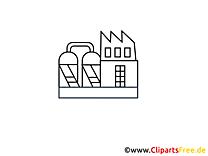 Coloriage usine clip art gratuit – Industrie images