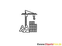 Construction industrie illustration à colorier