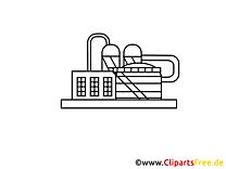 Dessins gratuits usine à imprimer - Industrie clipart
