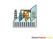 Dessins gratuits usine chimique - Industrie clipart
