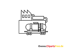 Essence clipart à colorier - Industrie dessins gratuits