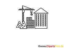 Image à colorier grue - Industrie clipart