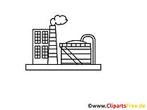 Images fabrique à imprimer - Industrie dessins gratuits
