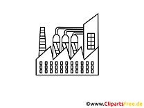 Images usine chimique à colorier – Industrie clipart