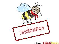 Abeille image - Invitation images cliparts