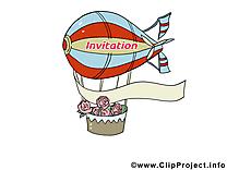 Aérostat dessin gratuit - Invitation image