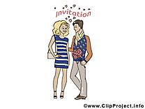 Amoureux dessin à télécharger - Invitation images