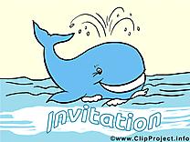 Baleine clip art gratuit – Invitation images