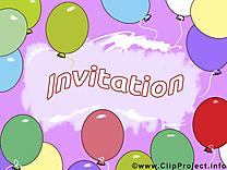 Ballons clipart gratuit - Invitation images