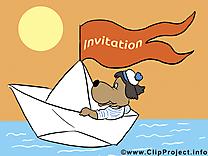 Bateau dessin - Invitation à télécharger