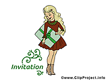 Cadeau image gratuite – Invitation clipart