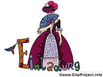 Carnaval dessin gratuit - Invitation image