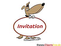 Chien clipart gratuit - Invitation images