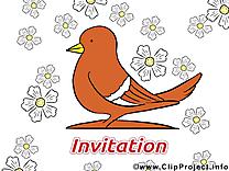 Colombe clip art gratuit – Invitation images
