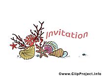 Coquilles dessin - Invitation à télécharger
