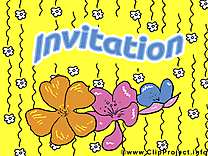 Dessin gratuit fleur - Invitation image