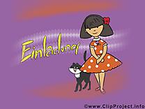 Femme chat invitation image gratuite