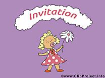 Fille image à télécharger - Invitation clipart