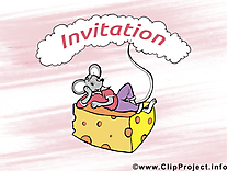 Fromage souris image - Invitation images cliparts