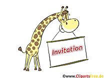Girafe images - Invitation clip art gratuit