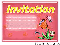 Image gratuite fleur – Invitation clipart