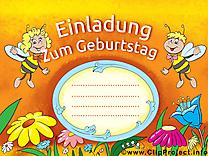 Invitation gratuite allemand - Abeilles clip art