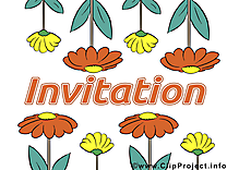 Invitation images -  Fleurs dessins gratuits