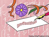 Lettre clipart - Invitation dessins gratuits