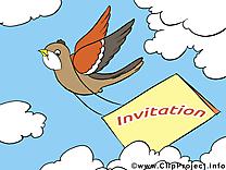 Oiseau clipart gratuit - Invitation images